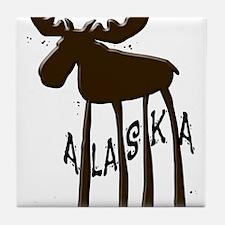 Alaska Moose Tile Coaster