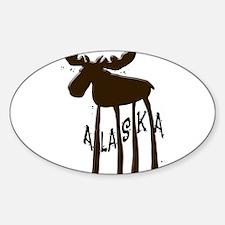 Alaska Moose Sticker (Oval)