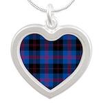 Tartan - Angus dist. Silver Heart Necklace