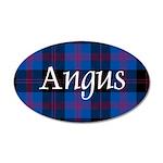 Tartan - Angus dist. 35x21 Oval Wall Decal