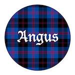 Tartan - Angus dist. Round Car Magnet