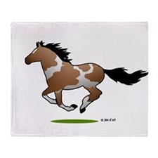 Indian Horse Throw Blanket