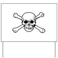 Skull & Crossbones Yard Sign