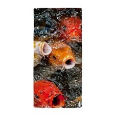 Cute Koi Beach Towel