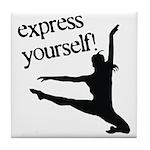 Express Yourself Tile Coaster