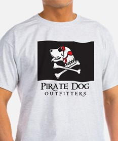 Pirate Dog Flag Red T-Shirt