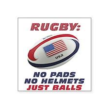 """Unique Rugby Square Sticker 3"""" x 3"""""""