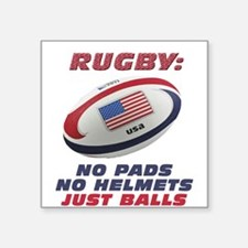 "Unique Rugby Square Sticker 3"" x 3"""