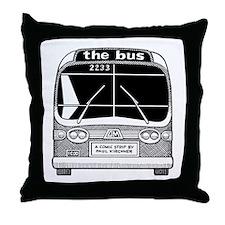 """the bus"" Throw Pillow"