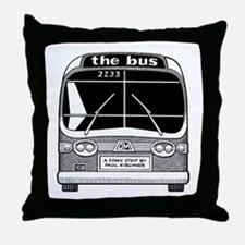"""the bus"" Throw Pillow"