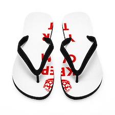 Keep Calm personalize Flip Flops