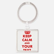 Keep Calm personalize Keychains