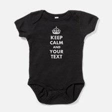 Personalized Keep Calm and carry on Baby Bodysuit