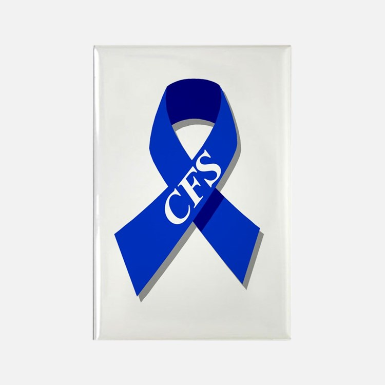 CFS Awareness blue ribbon Rectangle Magnet