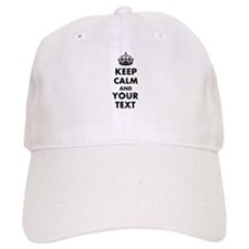 Personalized Keep Calm and carry on Baseball Baseball Cap