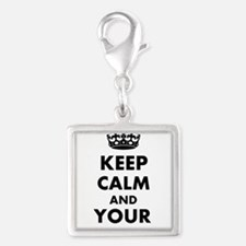 Personalized Keep Calm and carry on Charms