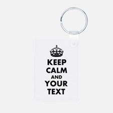 Personalized Keep Calm and carry on Keychains