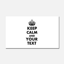 Personalized Keep Calm and carry on Car Magnet 20