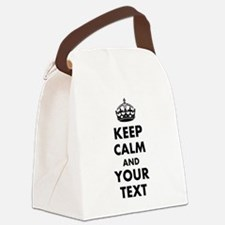 Personalized Keep Calm and carry on Canvas Lunch B