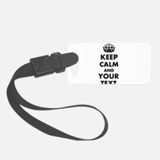 Personalized Keep Calm and carry on Luggage Tag