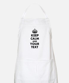 Personalized Keep Calm and carry on Apron