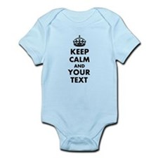 Personalized Keep Calm and carry on Body Suit