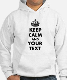 Personalized Keep Calm and carry on Hoodie