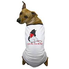 ratheartblkhd.png Dog T-Shirt