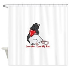 ratheartblkhd.png Shower Curtain