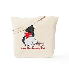 ratheartblkhd.png Tote Bag