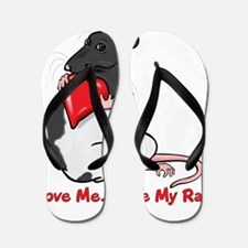 ratheartblkhd.png Flip Flops