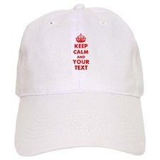 Personalized Keep Calm and carry on Baseball Cap