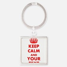 Personalized Keep Calm and carry o Square Keychain