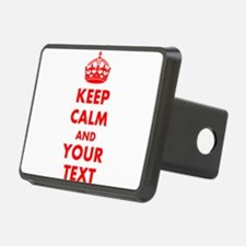 Personalized Keep Calm and Hitch Cover
