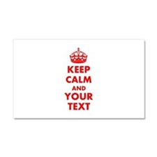 Personalized Keep Calm and carr Car Magnet 20 x 12
