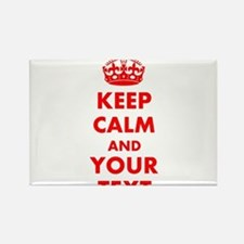 Personalized Keep Calm and carry Rectangle Magnet