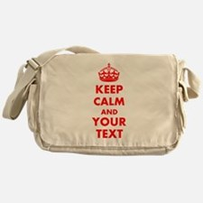 Personalized Keep Calm and carry on Messenger Bag
