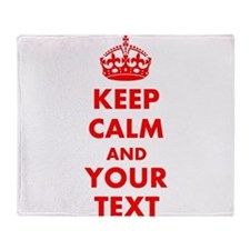 Personalized Keep Calm and carry on Throw Blanket