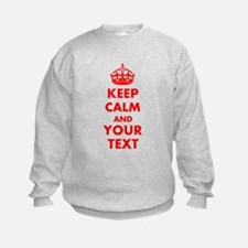 Personalized Keep Calm and carry o Sweatshirt