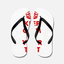 Personalized Keep Calm and carry on Flip Flops