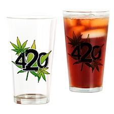420-3leaf Drinking Glass
