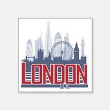 "Funny Big ben Square Sticker 3"" x 3"""