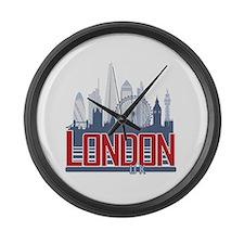 Cute London Large Wall Clock