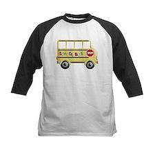cute yellow school bus Baseball Jersey