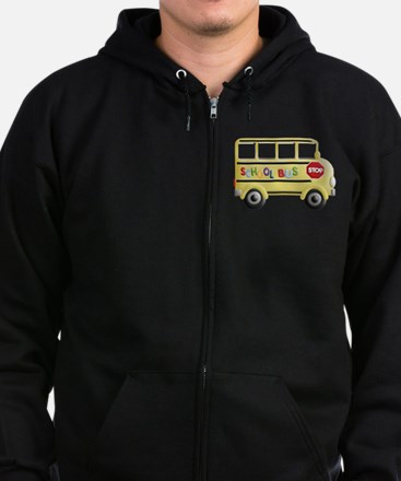 Cute Back to school Zip Hoodie (dark)