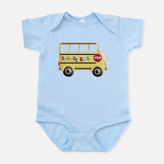 cute yellow school bus Body Suit