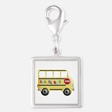 cute yellow school bus Charms