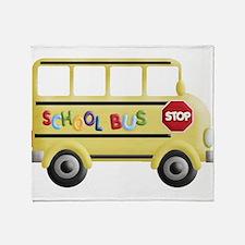 Cool School bus driver Throw Blanket