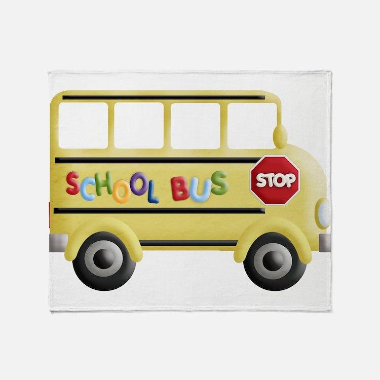 Cute Back to school Throw Blanket