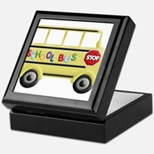 Funny School bus driver Keepsake Box